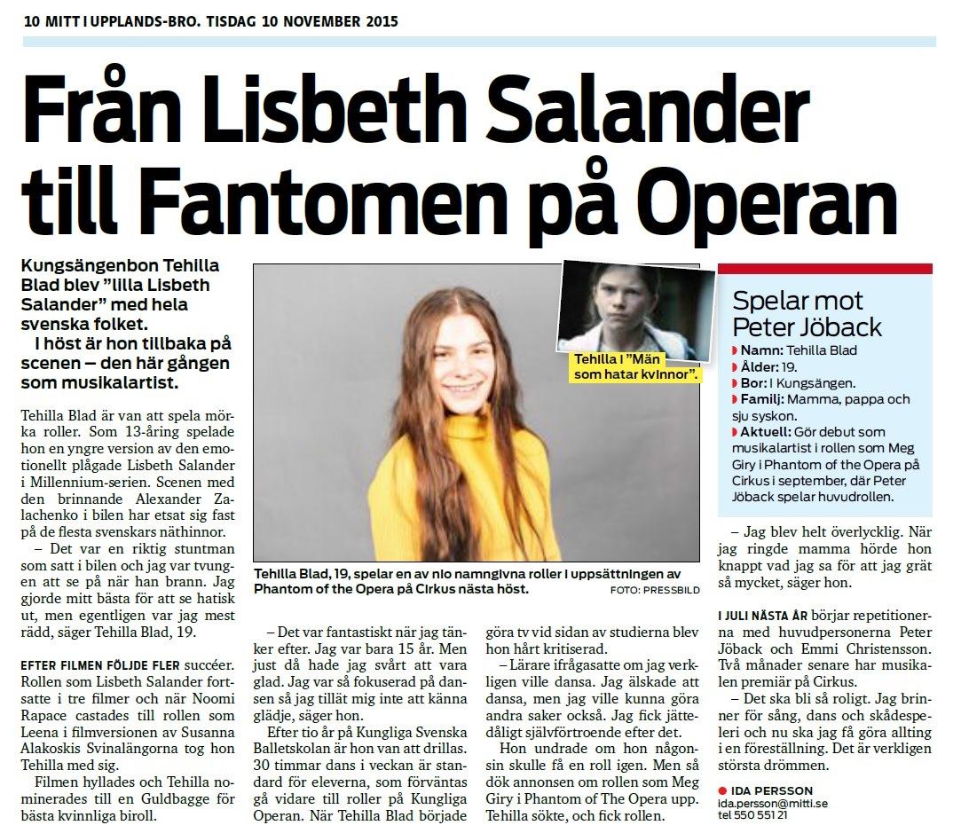 Från Lisbeth Salander till Fantomen på Operan z
